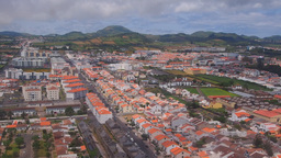 Landing In Ponta Delgada On Sao Miguel Island, Azo stock footage