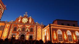 Convent in Ponta Delgada, Sao Miguel, Azores Islan Stock Video Footage