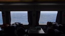 Travelling In The Ferry Through Atlantic Ocean stock footage