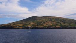 Caldeira on Graciosa Island, Azores, Portugal Footage