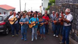 Holy Spirit Festival on Sao Jorge Island, Azores,  Footage