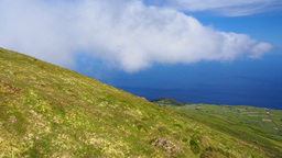 Landscape Of Corvo Island, Azores, Portugal stock footage