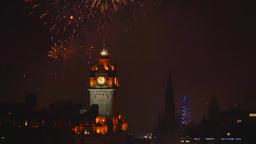 Fireworks in Edinburgh, Scotland, United Kingdom Live Action