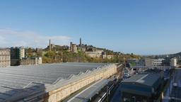 4K Calton Hill in Edinburgh, Scotland Live Action