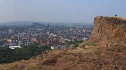 Holyrood Park in Edinburgh, Scotland Live Action