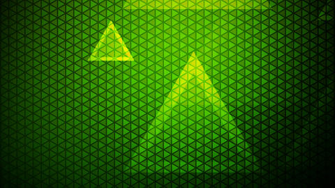 glowing green triangle Animation