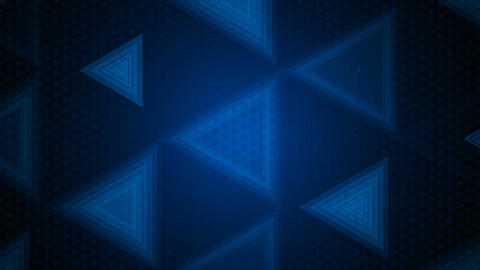 Blue Triangle Overlay stock footage