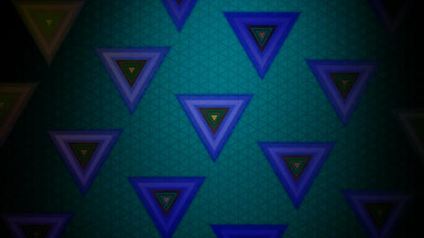 retro triangle pattern Animation