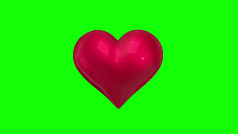 Heart revolving on green background Animation