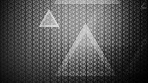 glowing white triangle Animation
