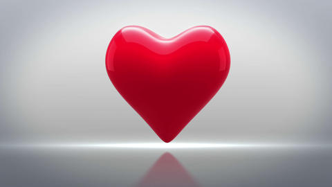 Red heart thumping on grey background Animation
