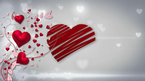 Valentines day vector with heart on glittering background Animation