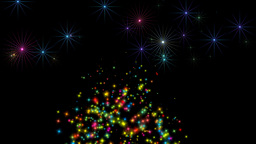 Shine stars and Sparkles of snow on the road Animation