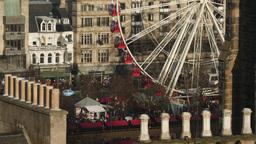 4K Ferris Wheel in Edinburgh, Scotland Live Action