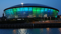 The SSE Hydro Building In Glasgow, Scotland stock footage