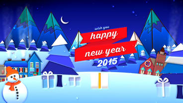 Happy New Year Merry Christmas stock footage