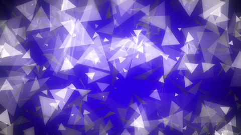 Dark Blue Glowing Triangles Loop 1 Animation