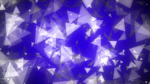 Dark Blue Glowing Triangles Loop 2 Animation