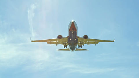Landing Of The Passenger Plane Up To The End stock footage