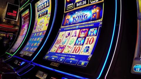 Macro slot machine inside Hard Rock Casino in Coqu Footage