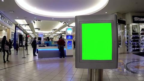Green billboard for your ad in front of lottery bo Footage