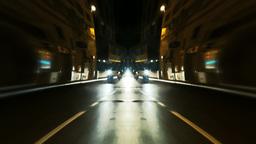 Bizarre timelapse streets night stop Footage
