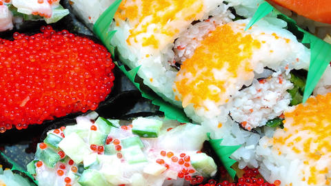 Close Up Janpanese Sushi stock footage