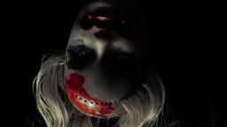 Cursed doll appearing upside down close up 1 cold  Footage