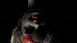 Cursed doll appearing upside down close up 2 cold  Footage