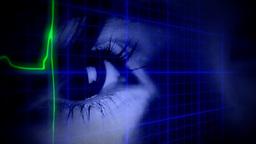 EKG heartbeat eye blue symbols ビデオ
