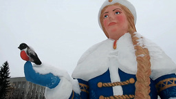 Russian Winter Holiday Character Snow Maiden stock footage