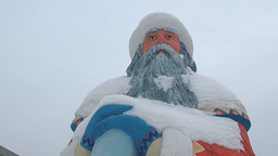 Russian winter holiday character Grandfather Frost Footage