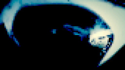 Eye nightmare distortion pixelated Footage