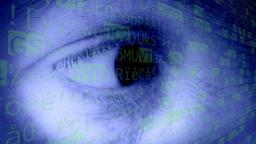 Eye woman blue programming Footage