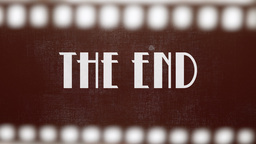 Film vintage The End 20s strip Stock Video Footage
