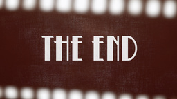 Film Vintage The End 20s Strip stock footage