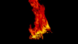 Fire pixelated long distance shot Footage