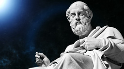 Animation of the philosopher Plato in 4K format Footage