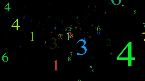 Numbers, Computer Generated, Animation, Alpha Matt Animation