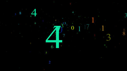 Numbers, Computer Generated, Animation, Alpha Matt Stock Video Footage