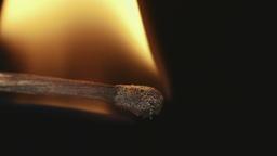 Match Inginiting Burning Extreme Macro Close Up Ba stock footage