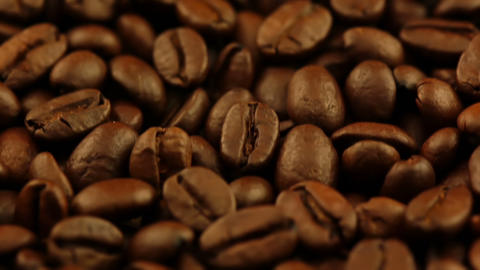 Roasted Coffee Grain Closeup Footage