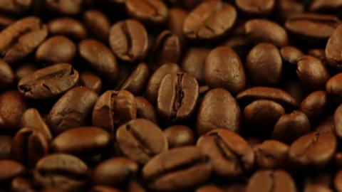 Roasted Coffee Grain Closeup Footage