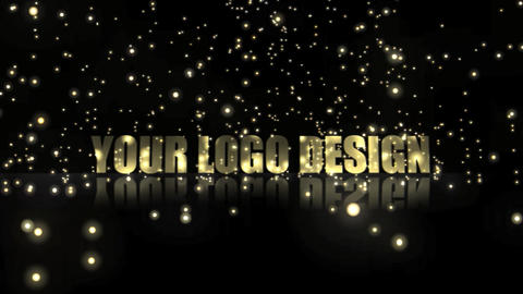 The title particle gold After Effects Template