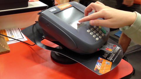 Credit card payment terminal and transfer payment Footage