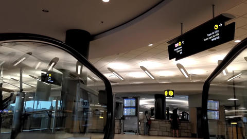 Airport terminal of domestic arrival lobby Footage