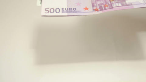 Two 500 and 100 Euro bill inside the envelope Footage