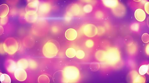 yellow circle bokeh lights on purple loopable back Animation