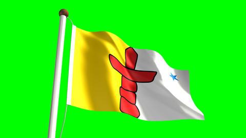Nunavut flag Animation