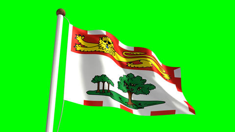 Prince Edward Island flag Animation